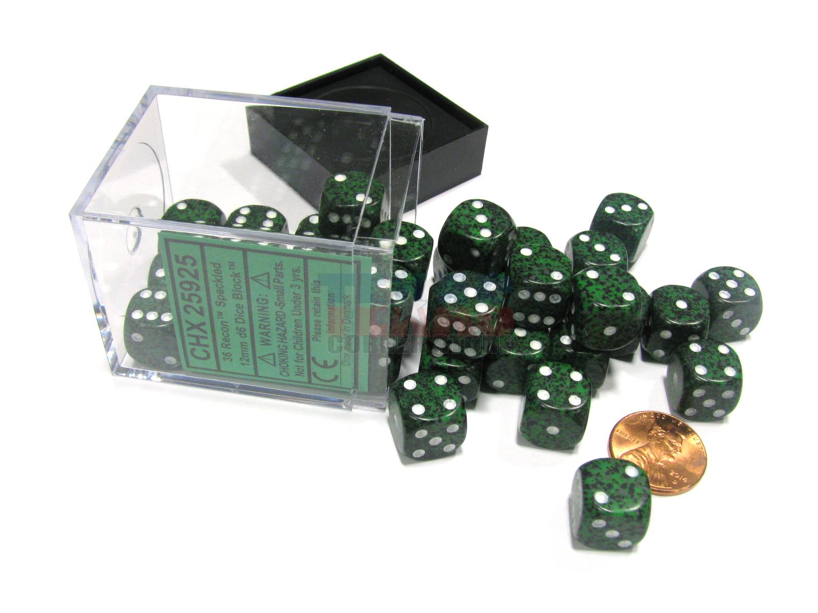 Chessex Speckled 12mm dice set Granite 36 pieces dice set