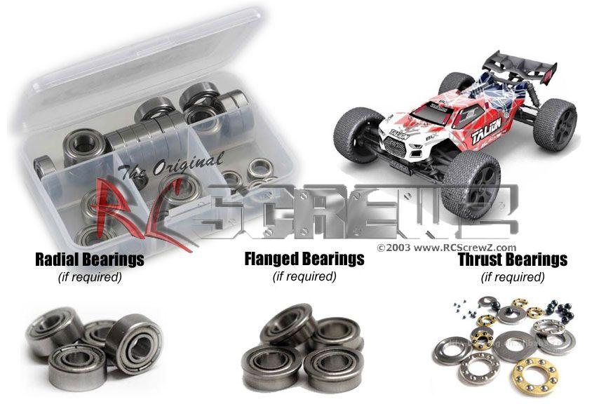 RC Screwz Metal Shielded Bearing Kit for Arrma RC Talion BLX 1/8 #arrm009b