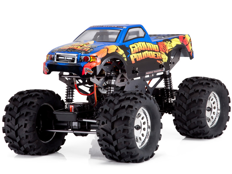 Monster Truck Rc Cars >> Details About Electric Powered Monster Truck 1 10 Scale Redcat Racing Ground Pounder Rc Truck