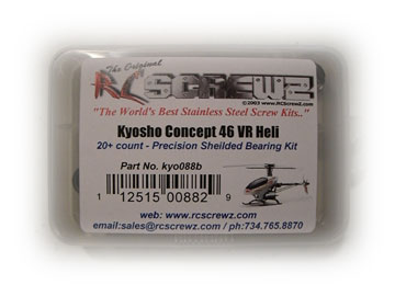 RC ScrewZ Metal Shielded Bearing Kit for Kyosho 46 VR  kyo088b