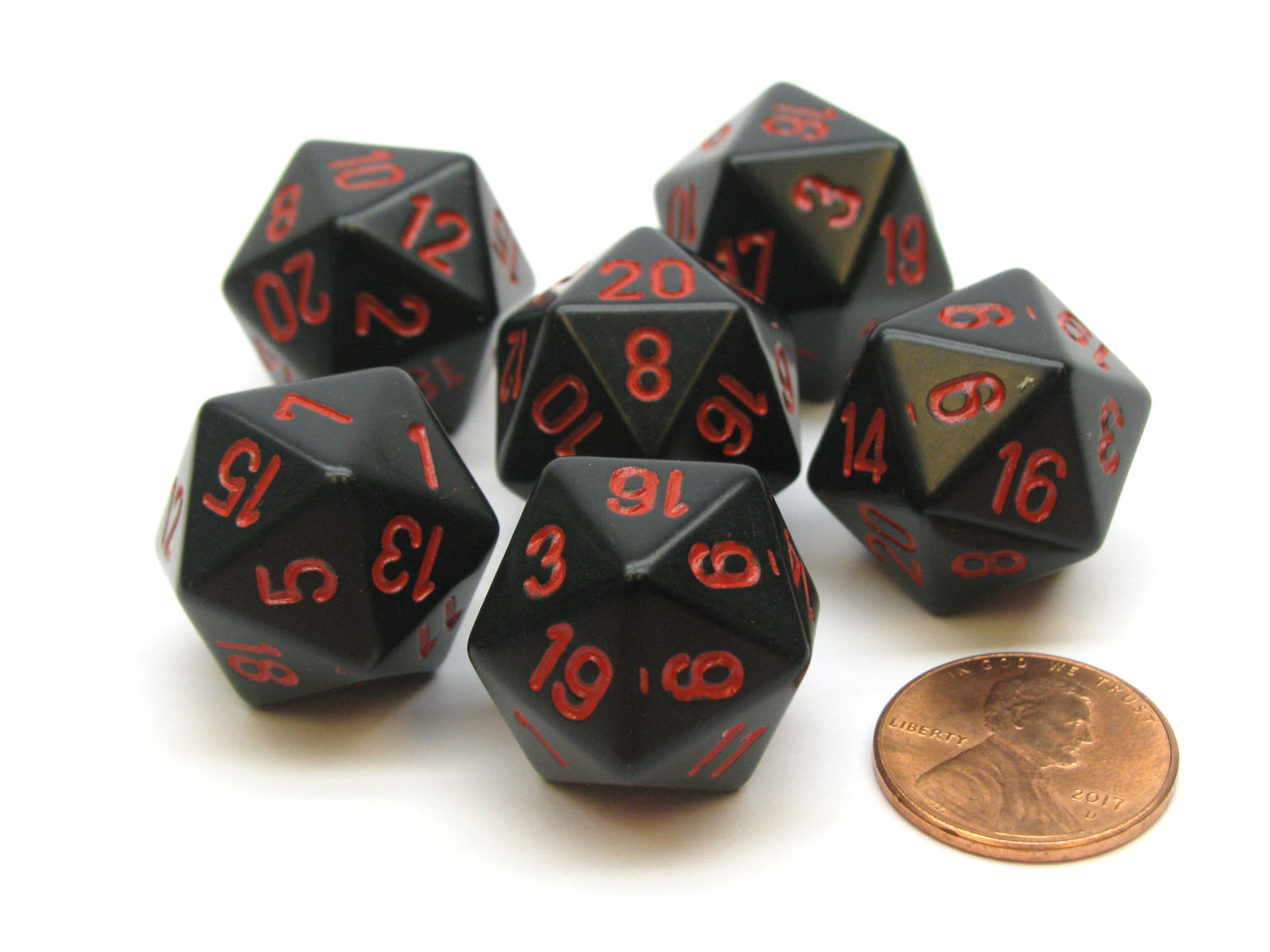 Accessories Games 8 pcs D20 RPG Die D&D 20 Sided Dice Game Gaming
