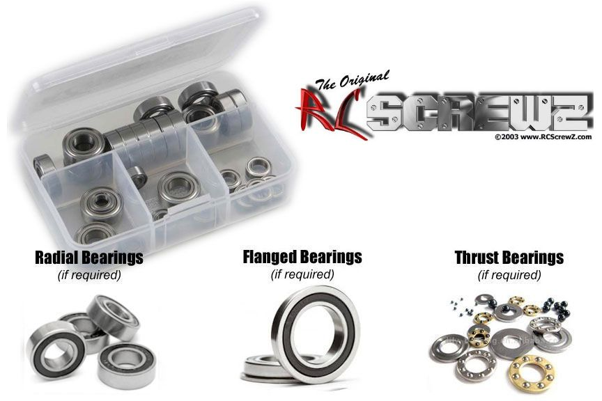 RC Screwz Rubber Shielded Bearing Kit for Capricorn RC Lab P01 200/235mm
