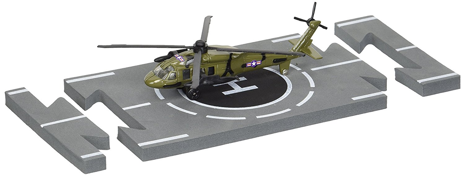Details about Daron Runway24 Diecast Metal Toy with Runway Section - Black  Hawk Helicopter