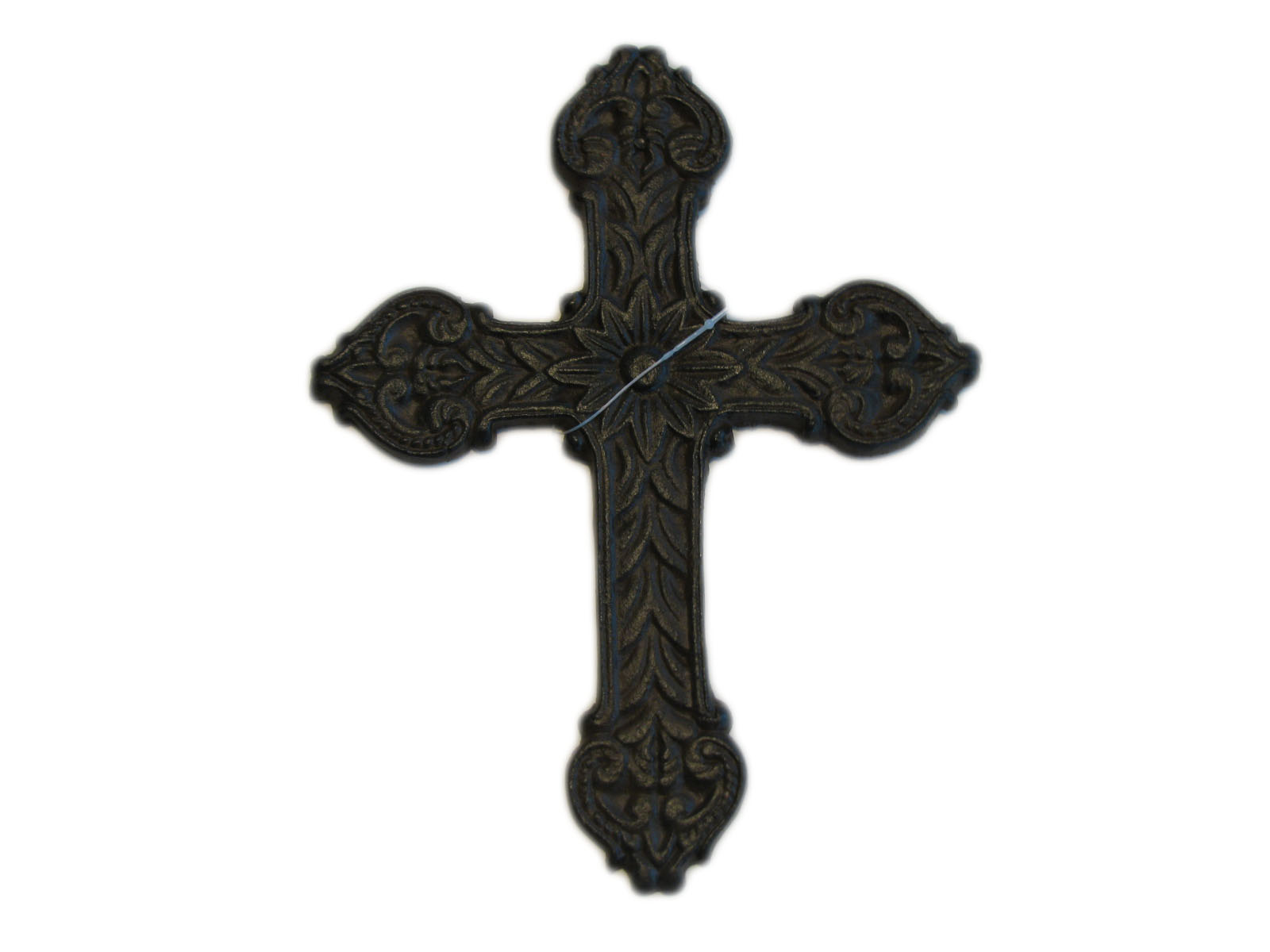 8 Tall Decoration Cast Iron Cross Rustic Biblical Metal Wrought