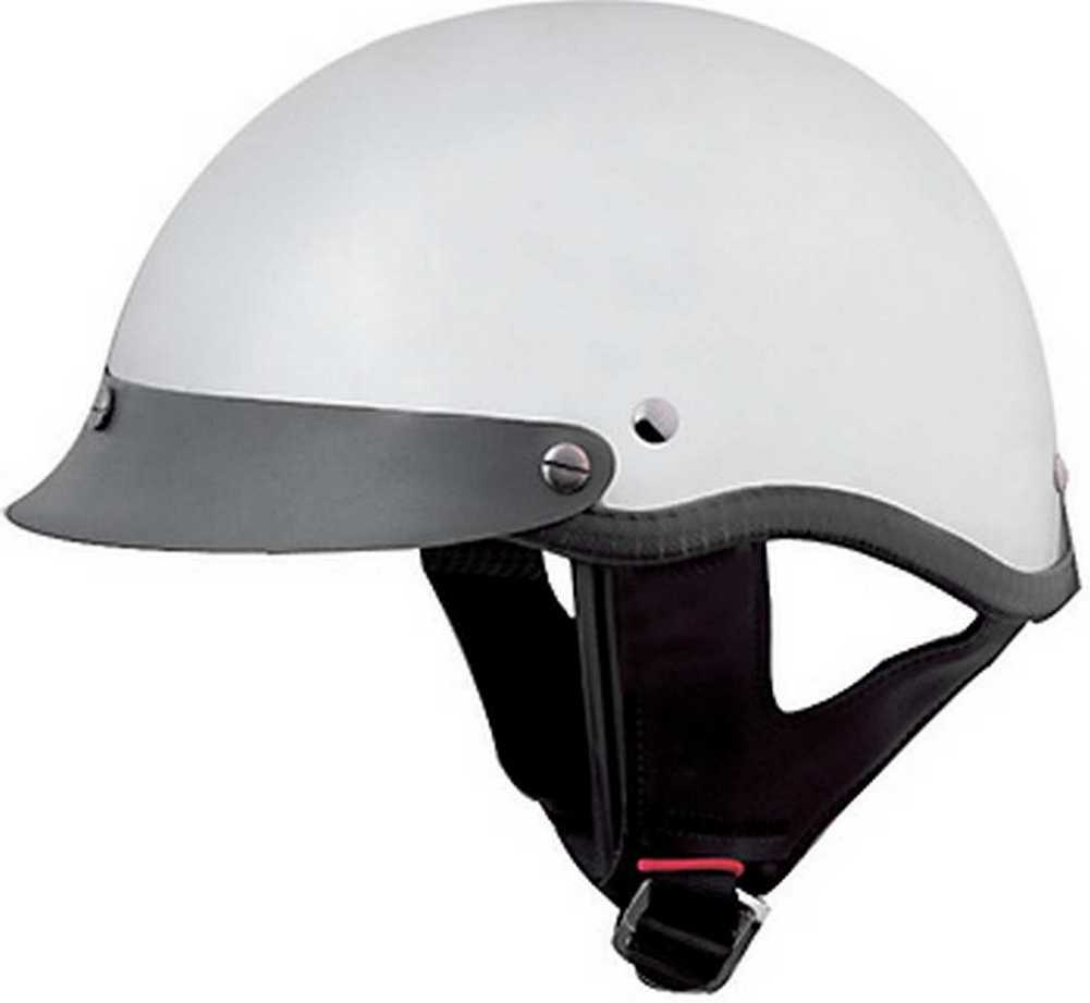HCI Gloss Black Motorcycle Half Helmet with Visor ABS Shell 100-110