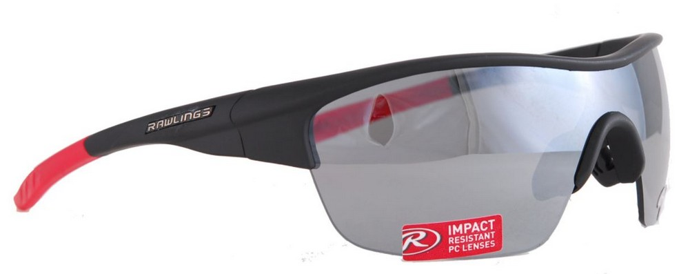 418253bb461 Details about Rawlings 18 Mens Adult Sport Sunglasses SPT Wrap Adult Shades  Black Red 10211097