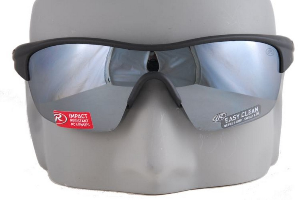 283eece89a Rawlings 18 Mens Adult Sport Sunglasses SPT Wrap Adult Shades Black Red  10211097 31568608308