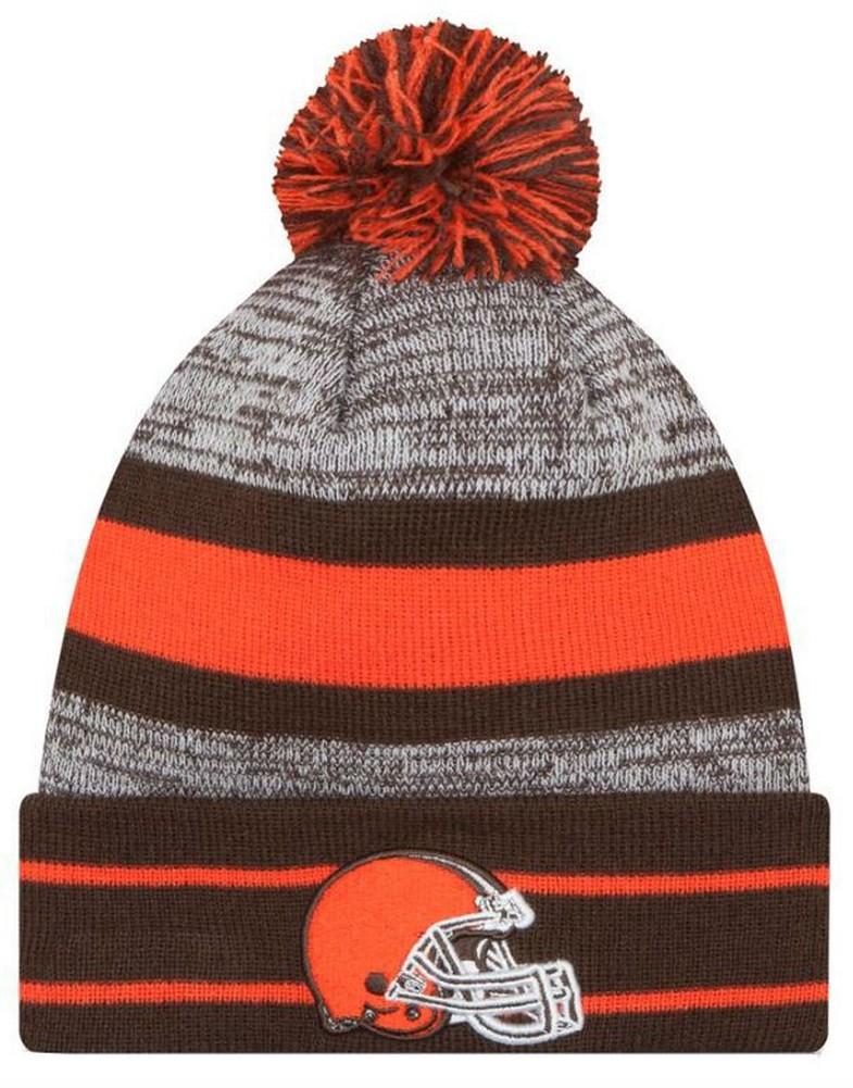 online retailer 0019b d455a New Era 2019 NFL Cleveland Browns Cuff Pom Knit Hat Beanie Stocking Winter  Skull