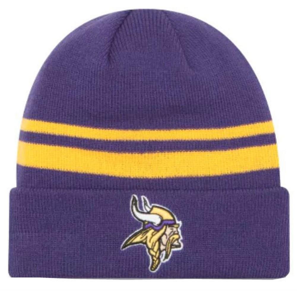 cb9d8fd5 Details about New Era 2019 NFL Minnesota Vikings Cuff Knit Hat Beanie  Stocking Winter Skull