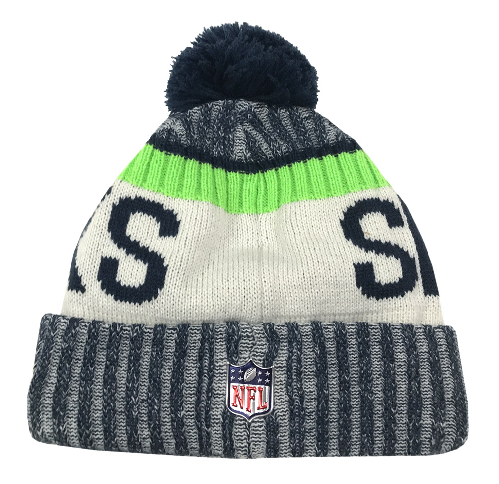 4ddb0fe7e ... discount code for seattle seahawks new era 2017 nfl sideline on field  sport knit hat navy