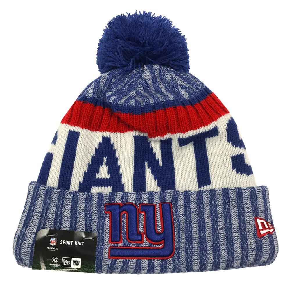 New Era New York Giants Knit Beanie Cap Hat NFL 2017 On Field Sideline  11460388 387f5eec8169