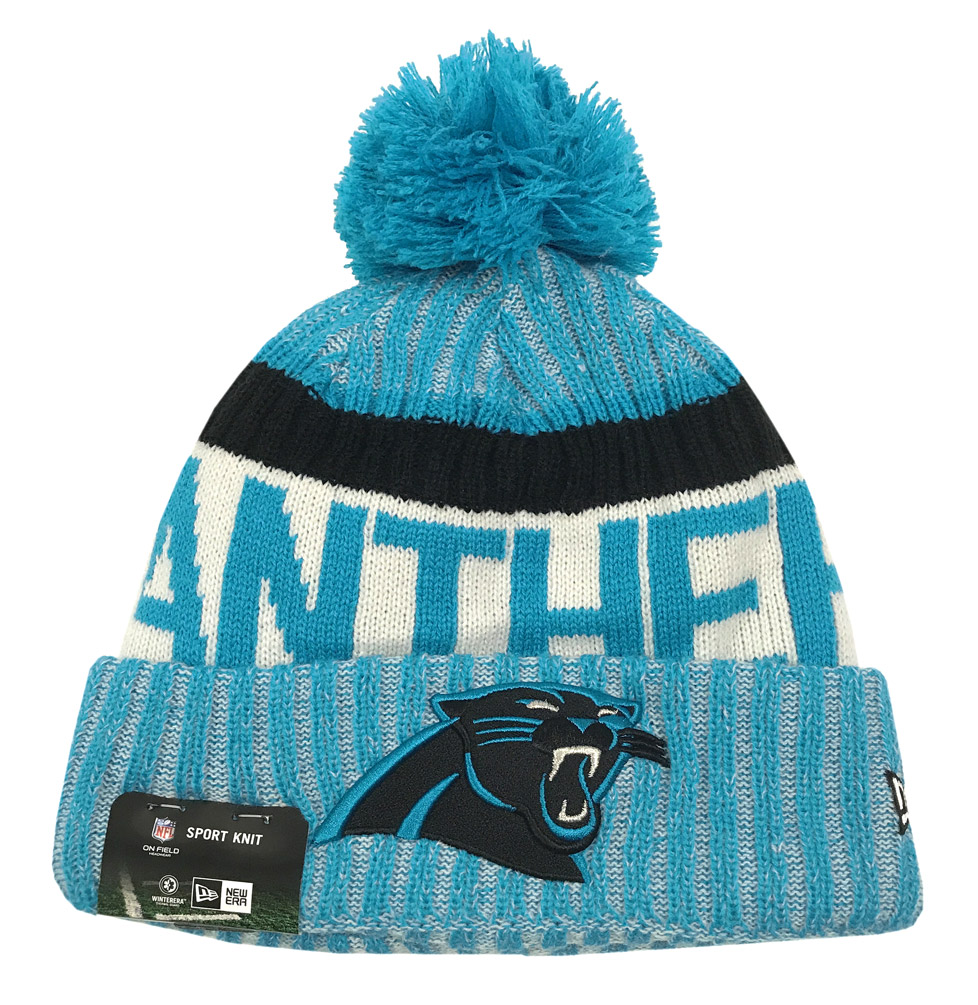 New Era Carolina Panthers Knit Beanie Cap Hat NFL On Field Sideline 11460406 c95902935