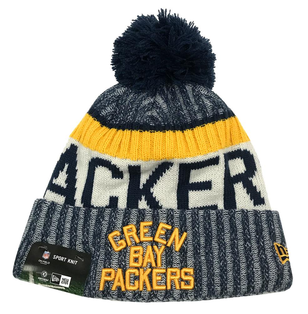 release date 048dc d9067 New Era Green Bay Packers Knit Beanie Cap Hat NFL 2017 On Field 11462739