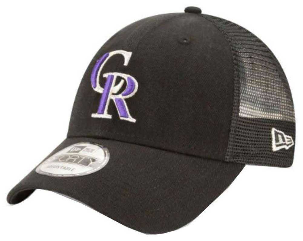 low priced a49fa 0262a New Era 2019 MLB Colorado Rockies Baseball Cap Hat Trucker Mesh 940 9Forty