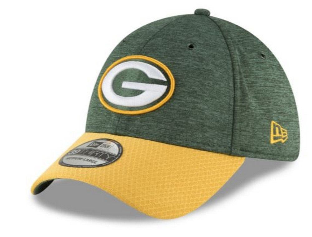 New Era 2018 39Thirty NFL Green Bay Packers Sideline Home Hat Cap 11763387 a72323f8661