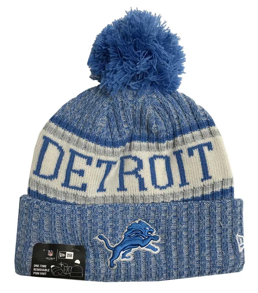 3f941d30884 New Era 2018 NFL Detroit Lions Sport Stocking Knit Hat Winter Beanie  11768191