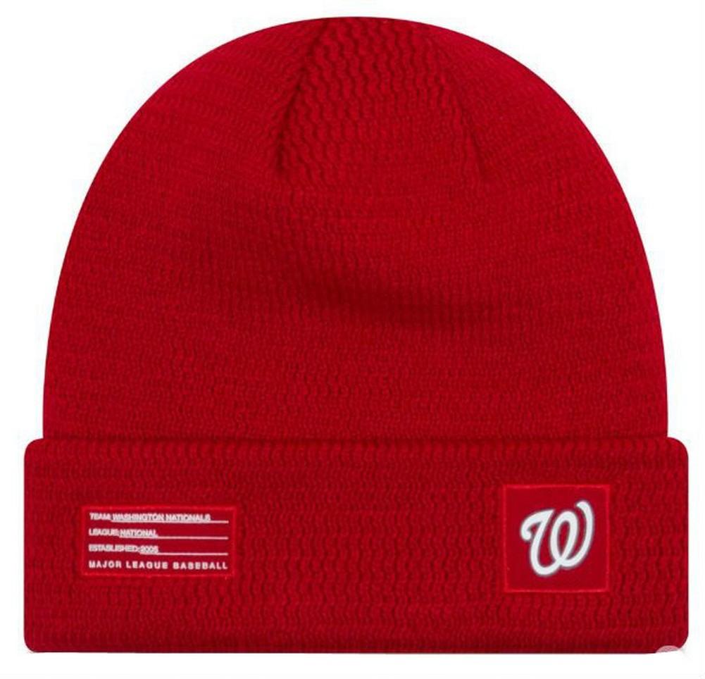 fbe6e189b5795 New Era MLB Washington Nationals Sport Stocking Knit Hat Beanie Cuff Skull  Cap