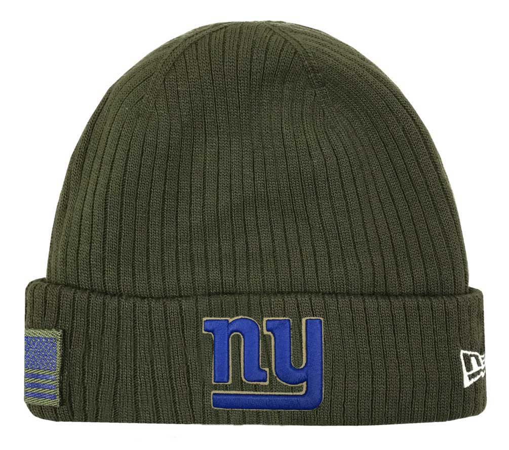 New Era 2018 NFL New York Giants Salute to Service Knit Hat Stocking Beanie  Cap f7d17726199
