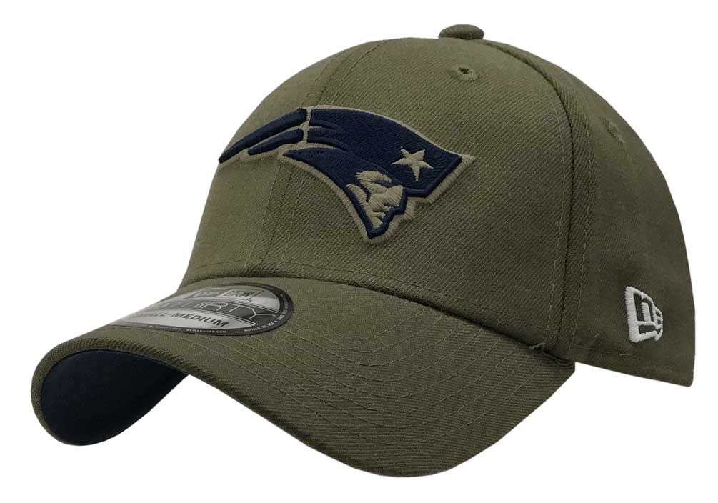 49e7d4b18a5d5 New Era 2018 39Thirty NFL New England Patriots Hat Cap Salute to Service  1784386