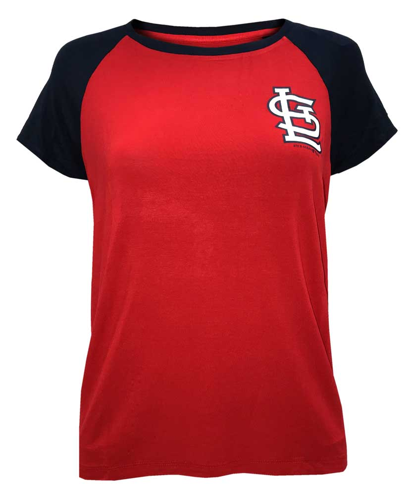 325ffffe New Era Womens MLB St Louis Cardinals Scoop Neck 2-Tone T-Shirt Tee  78070L-RENV