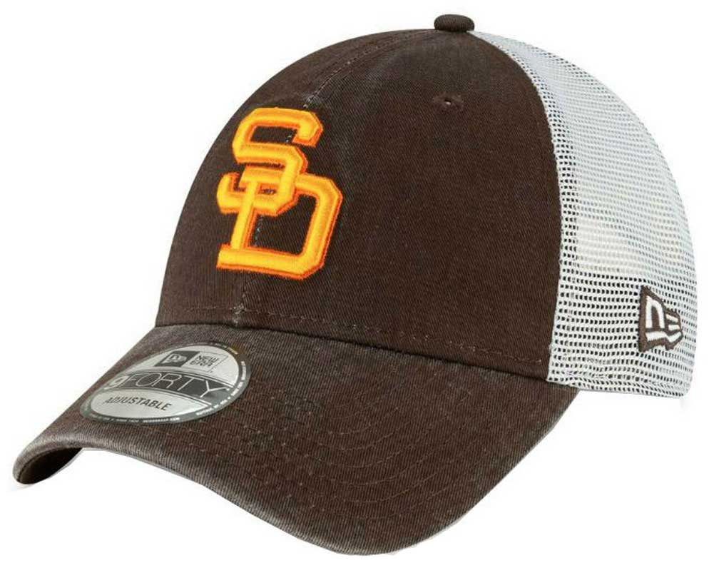 059072a117bd3 New Era 2019 MLB San Diego Padres Baseball Cap Hat 1980 Cooperstown Truck  Mesh