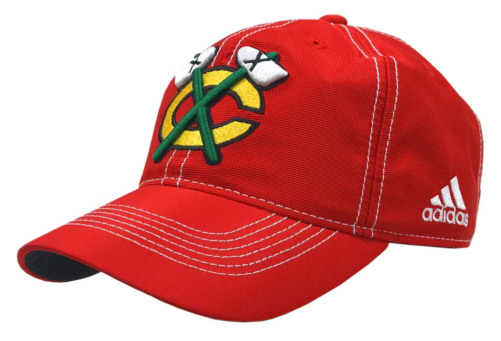 new concept b5b14 0e26f Adidas NHL Hockey Chicago Blackhawks Cap Hat Slouch Dobby ADJ Climalite  CY1163