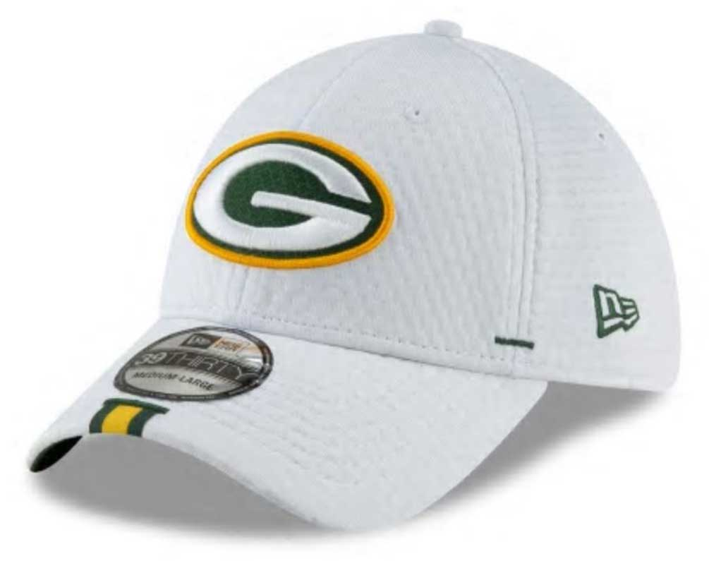 d5e94e05 Details about New Era 2019 NFL Green Bay Packers Training Camp Hat Cap Flex  39Thirty 12024437