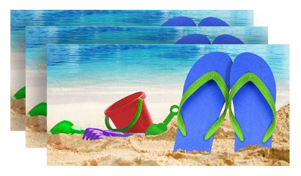 Sandals Fiber-Reaction Printed Beach Towel 30 x 60 inches 12373