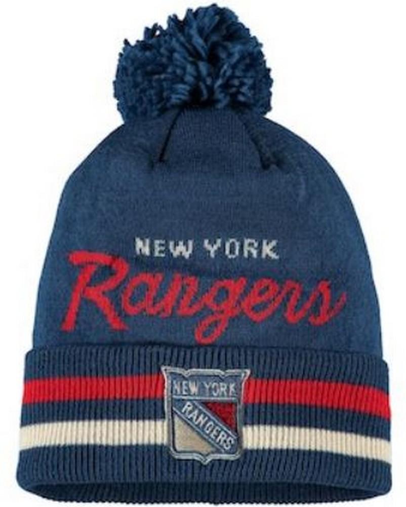 5b159acb1e3 Adidas Men s NHL New York Rangers Stocking Knit Hat Beanie Winter ...