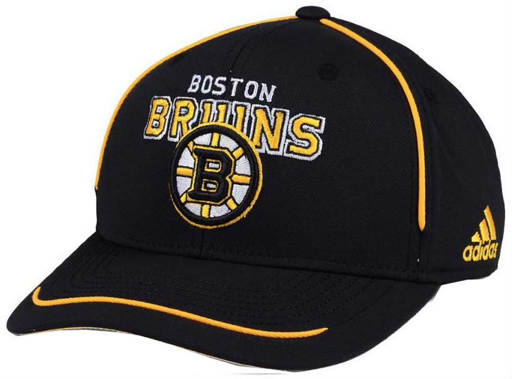 877922e2a13cb Adidas NHL Hockey Boston Bruins Cap Piped Structured Hat Adjustable  18OVZ-VBRUIN