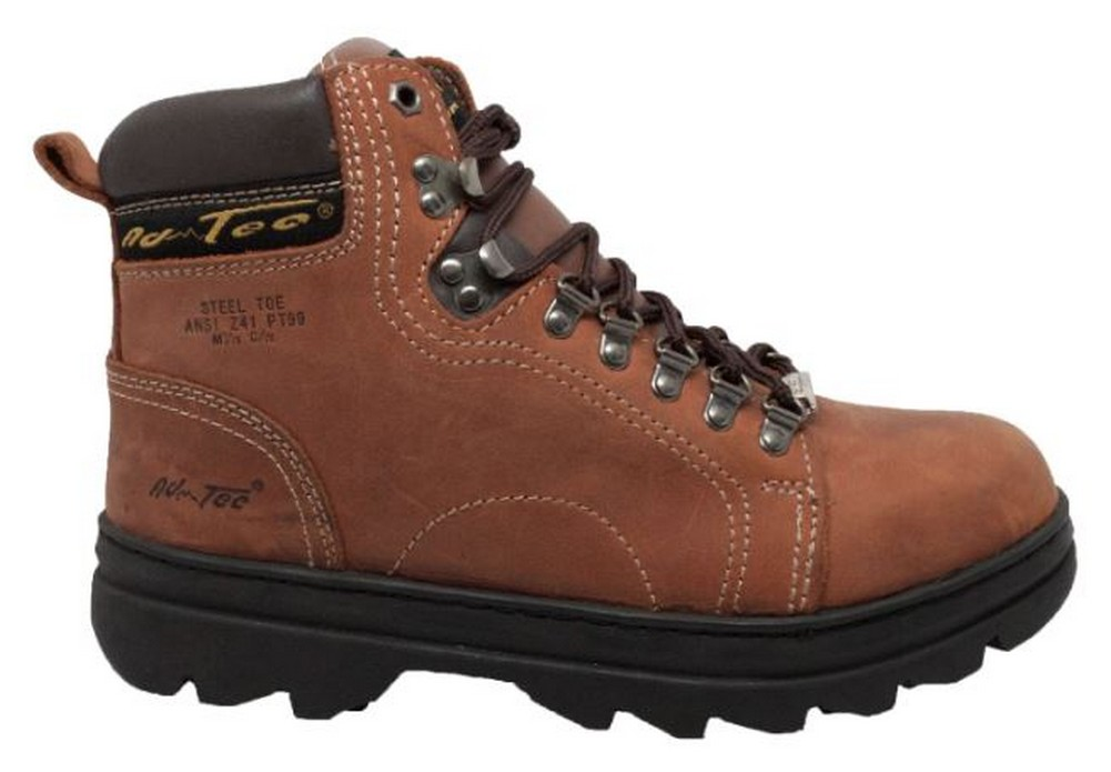 """Soft Toe Brown 1987 AdTec Men/'s 6/"""" Crazy Horse Leather Hiker//Work Boots"""