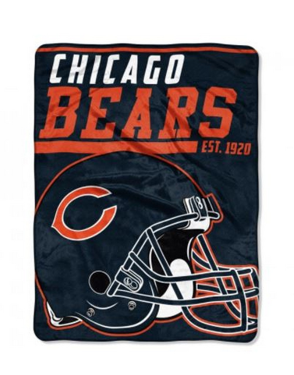 871e04ad44e Details about The Northwest NFL Chicago Bears Micro Raschel Throw Blanket  40 Yard Dash
