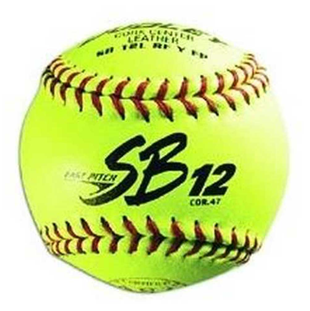"""Dudley Sports 12/"""" Leather Cover ASA Fastpitch Softball 1 Dozen 4A311Y"""