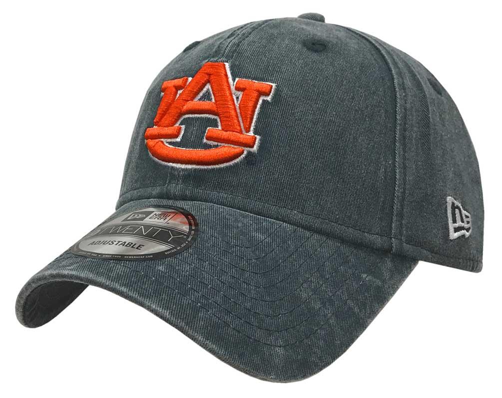 8d3b4027e59 New Era Auburn Tigers Baseball Cap Hat NCAA Rugged Wash 9Twenty 80470082