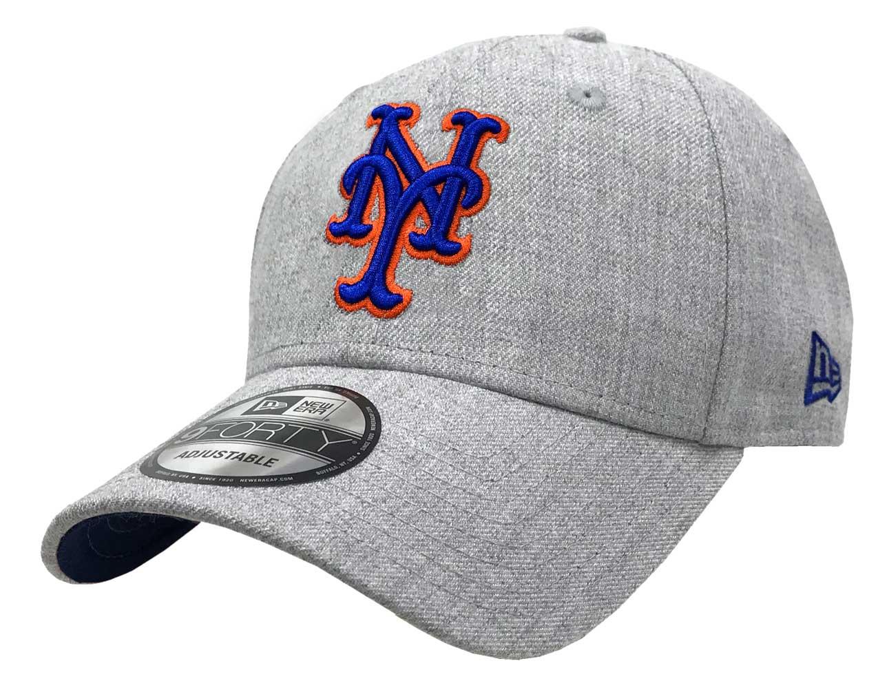 New Era 2019 MLB New York Mets Baseball Cap Hat 9Forty Adjust Snap Heather  Gray 5eb4235f61a1