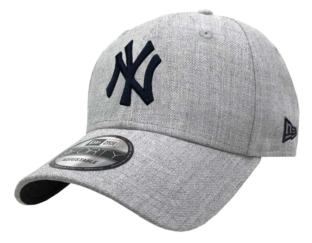 ac66237b273 New Era 2019 MLB New York Yankees Baseball Cap Hat 9Forty Adjust Heather  Gray