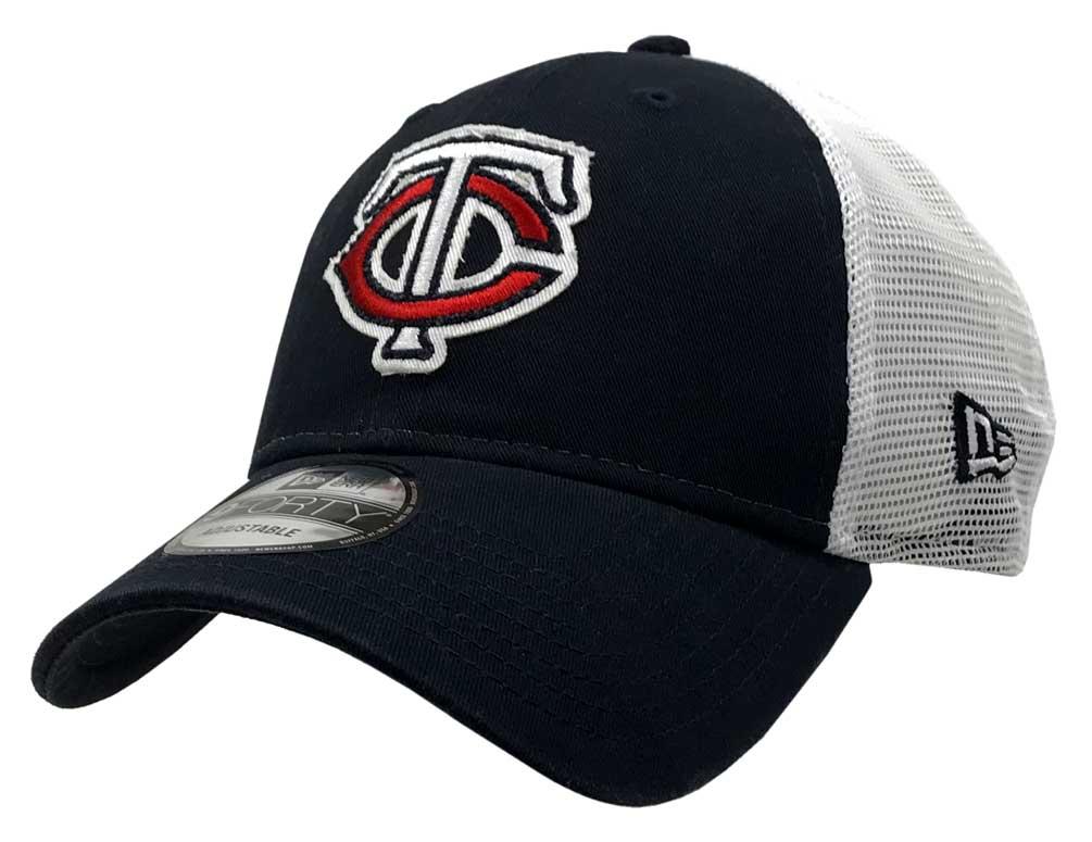 6ff7f03fad463 New Era 2019 MLB Minnesota Twins Baseball Cap Hat Truckered Frayed Logo  9Forty