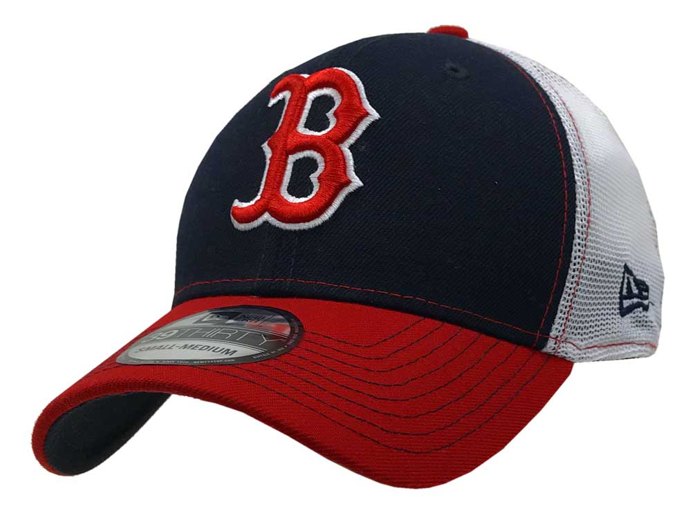 New Era 2019 3930 MLB Boston Red Sox Practice Piece Hat Cap 39Thirty ... 5f507e1cdb7