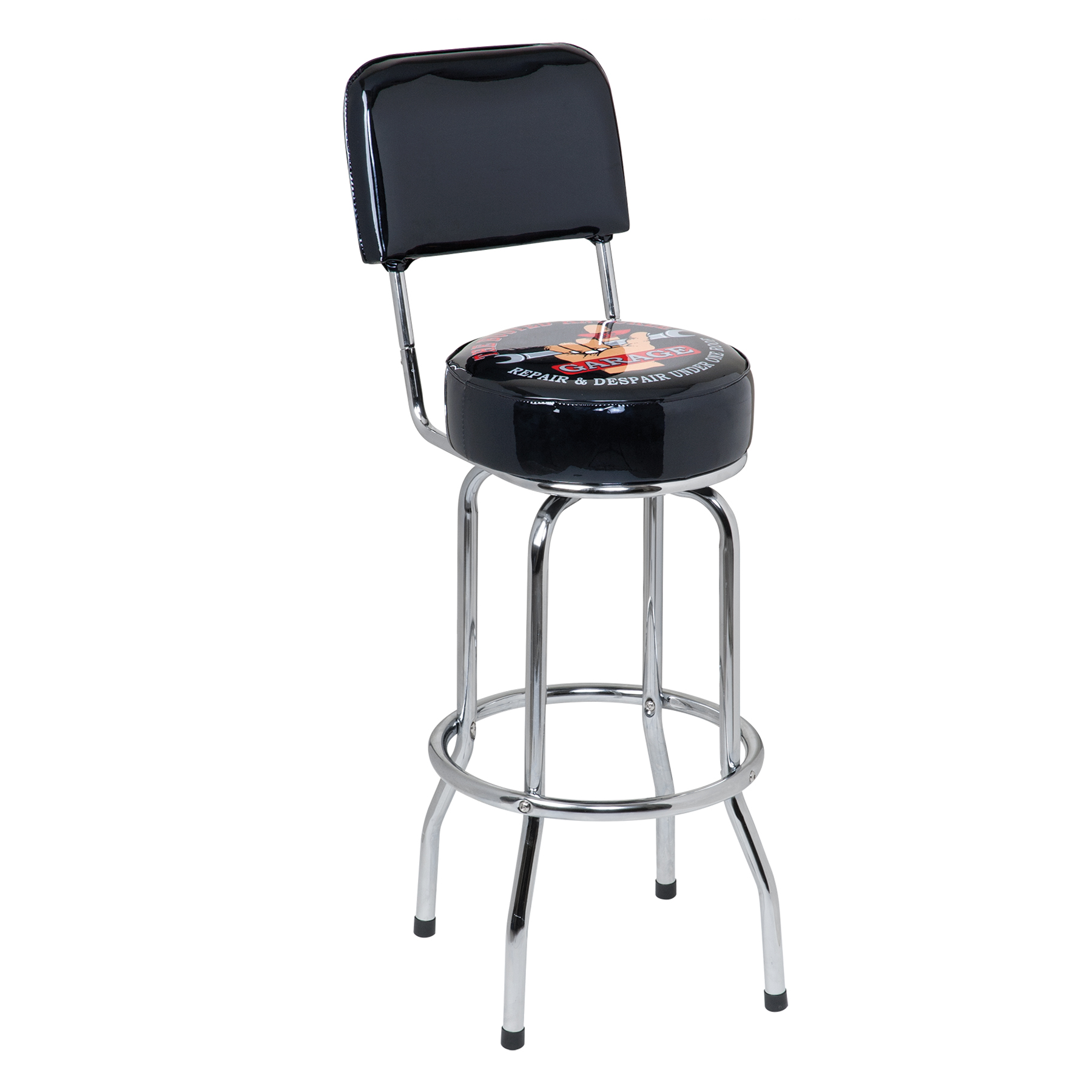 Miraculous Details About The Busted Knuckle Garage 30 Swivel Bar Stool With Backrest Bkg 72200 Ncnpc Chair Design For Home Ncnpcorg