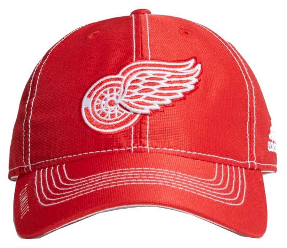 newest 5bc06 2bdfc Adidas NHL Hockey Detroit Red Wings Cap Hat Slouch Dobby ADJ Climalite  CY1166
