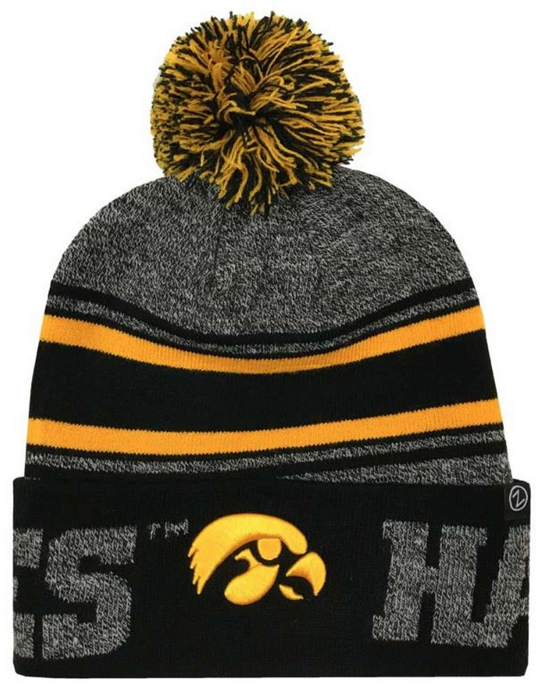 0ea52e0f Zephyr Hats University of Iowa Hawkeyes Orbit Knit Hat NCAA College Beanie  Cap