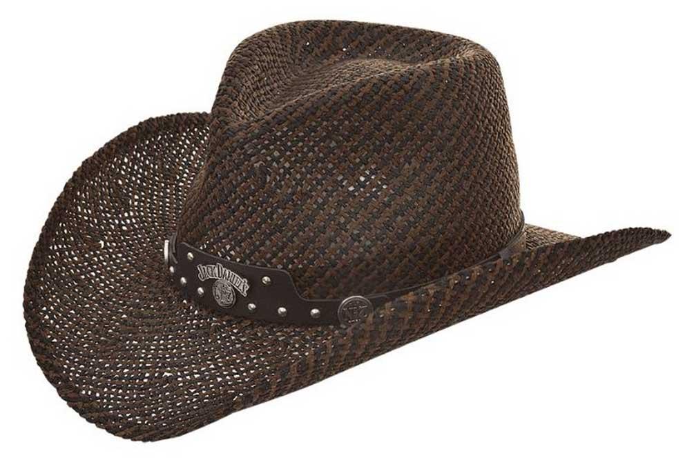 Jack Daniels Men s JD Twisted Toyo Straw Western Cowboy Hat Black Brown  JD03-706 575f0cc506d