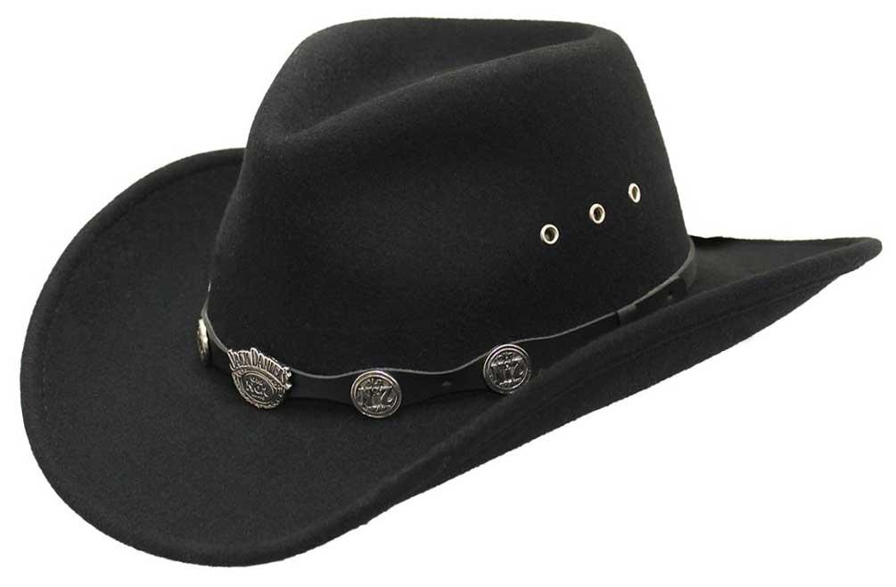 Jack Daniels Men s 100% Crushable Wool Cowboy Hat 78babf0e1eeb