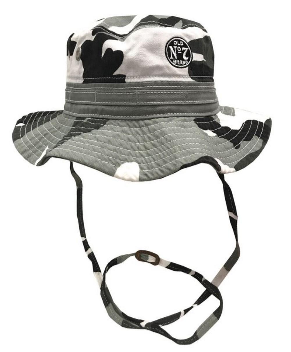 Jack Daniels Men s Wide Brim Boonie Fishing Bucket Hat Gray Camouflage  JD77-124 7d73cfc3ddd