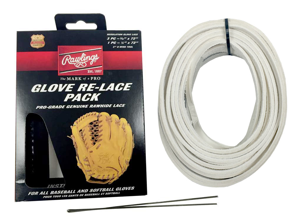 Details about Rawlings Glove Re-Lace Pack, Pro-Grade Kit for Baseball &  Softball LACEPK White
