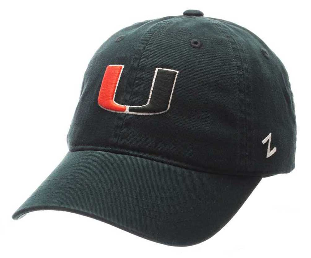 "Zephyr Hats NCAA University of Miami Hurricanes /""U/"" Baseball Cap Hat MIACHA0020"