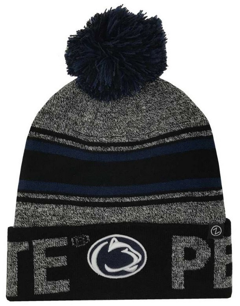0d4c148c550f3d Zephyr Hats Penn State University Lions Orbit Knit Hat NCAA College Beanie  Cap