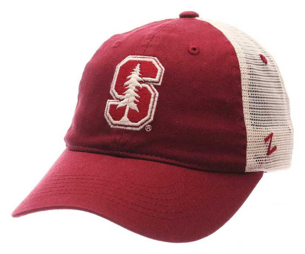 d1ac7aa1ef5 Zephyr Hats NCAA Stanford University Tree Logo Trucker Snapback Baseball Cap
