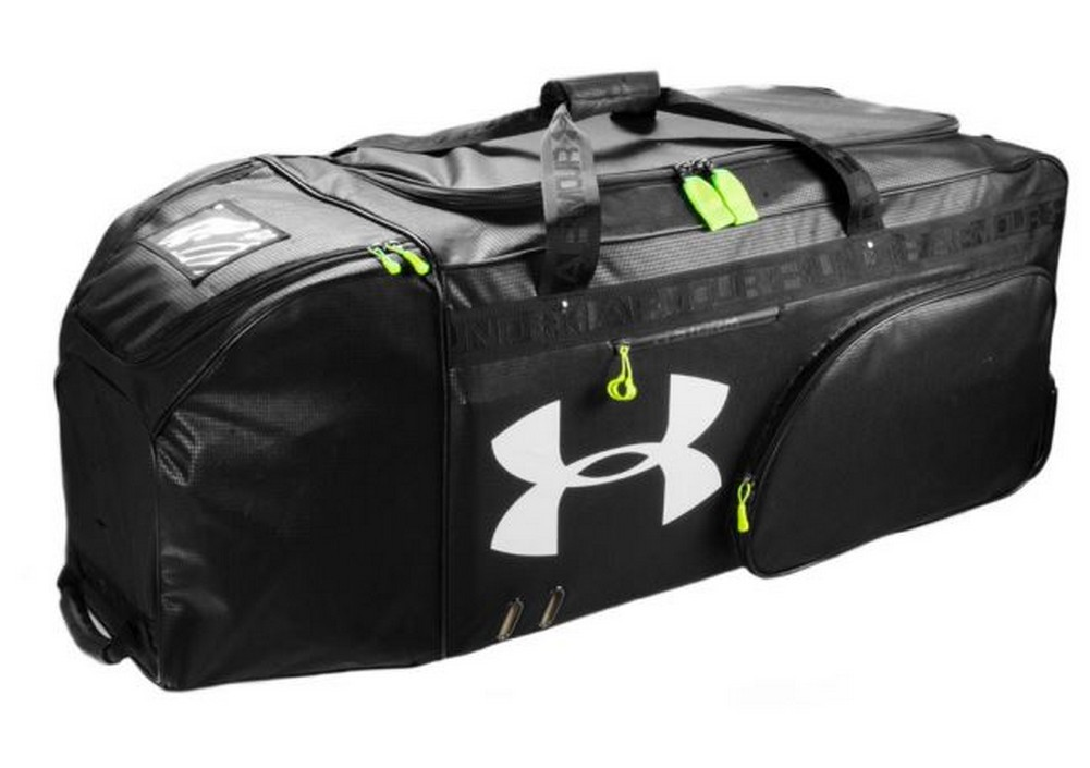 359e02d58cc Under Armour UA XLRB XL Football Equipment Roller Bag Duffel Black UASB-XLRB