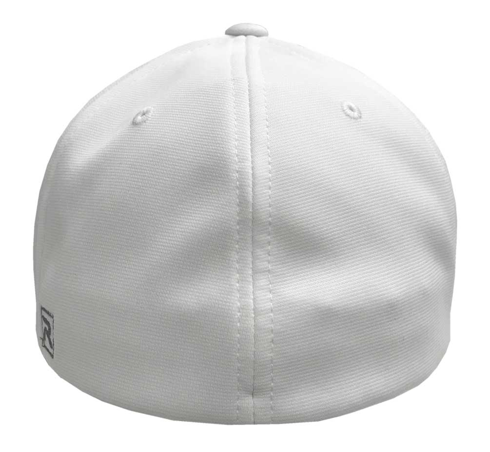 bcf6255a84420 Richardson PTS20 White Red Lace R-Flex Visor Baseball Fitted Hat